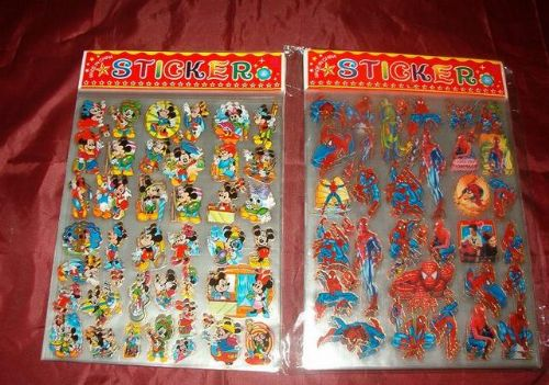 10 ST ARK SPIDERMAN & Mickey Mouse STICKERS