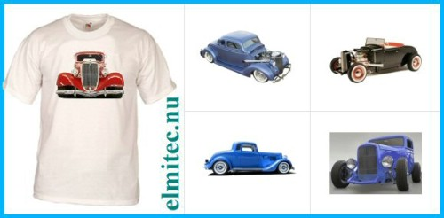 T-Shirt Bilar Hot Rod